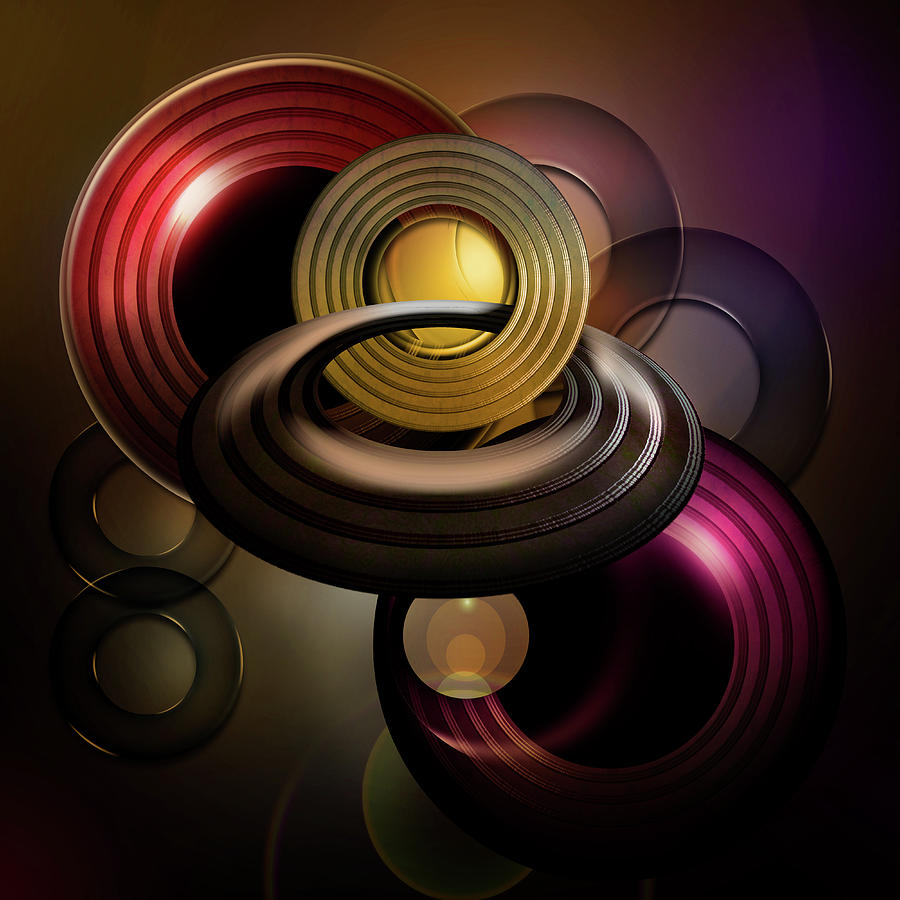 Rings Digital Art - Ringed by Andy Young