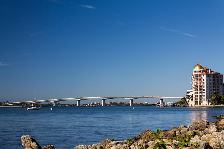 Marina Jacks Photograph - Ringling Bridge, Sarasota, Fl by Michael Tesar