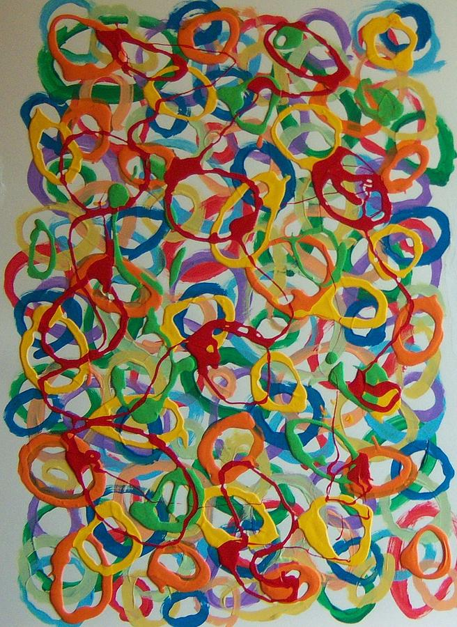 Abstract Painting - Rings by Helene Henderson