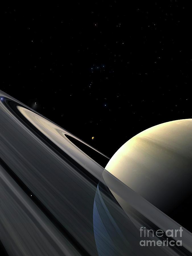 Saturn Digital Art - Rings Of Saturn by Fahad Sulehria