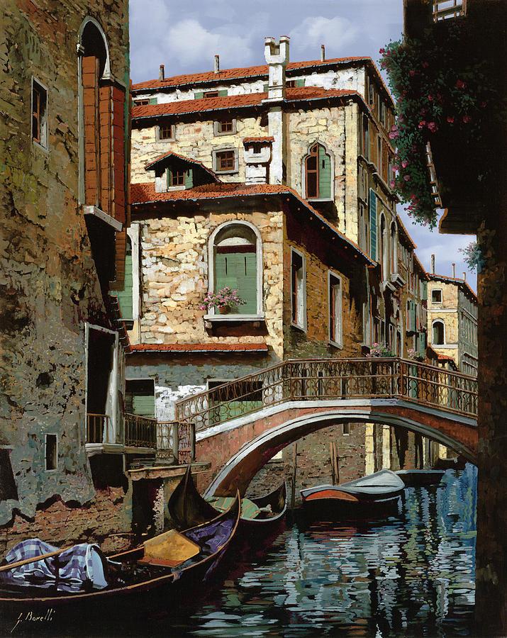 Venice Painting - Rio Degli Squeri by Guido Borelli
