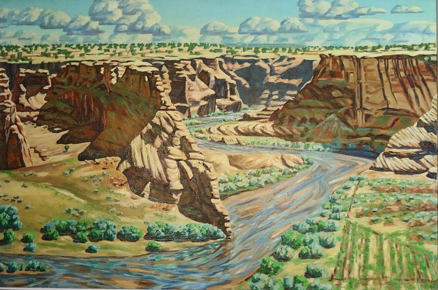 Canyon De Chelly Painting - Canyon De Chelly  by Allen Kerns