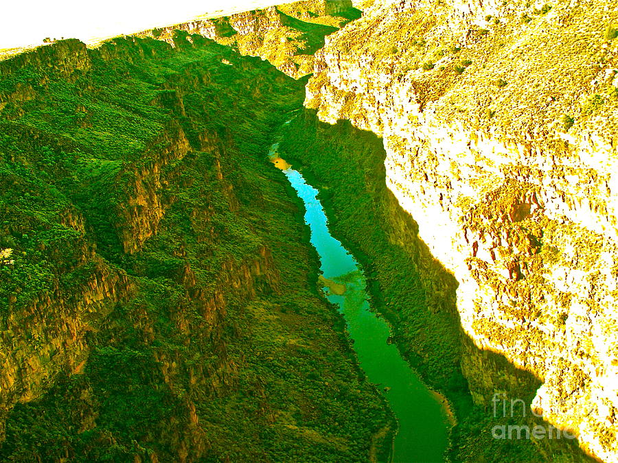 New Mexico Photograph - Rio Grande Gorge by Chuck Taylor