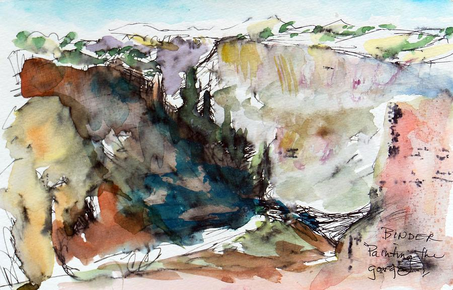 Rio Grande Gorge Painting - Rio Grande Gorge from Ranchos, Taos New Mexico by Diane Binder