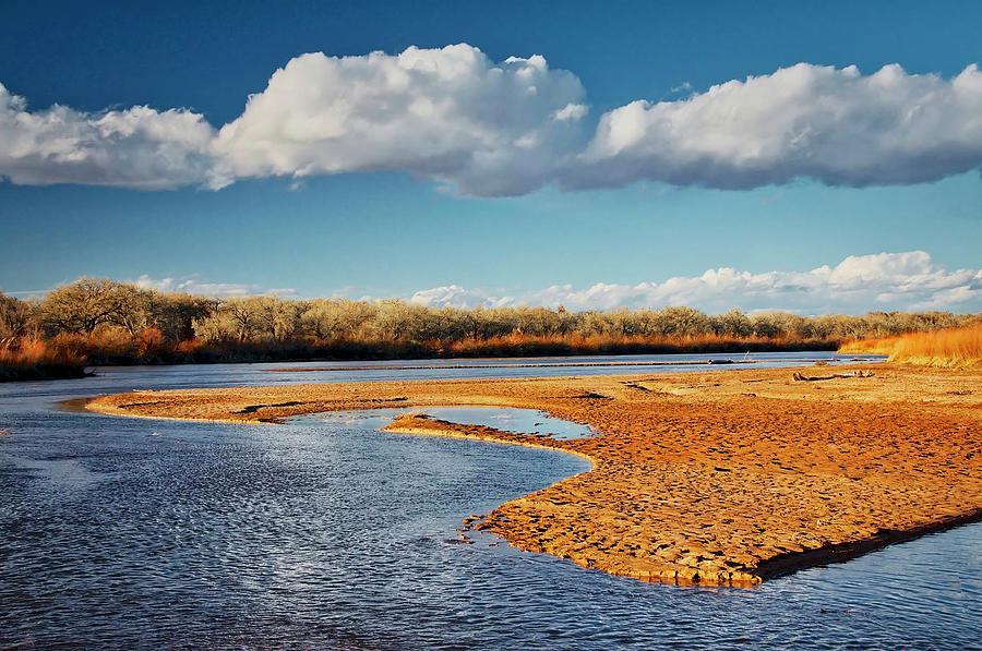 Nature Photograph - Rio Grande Mud, Albuquerque, New Mexico by Zayne Diamond Photographic