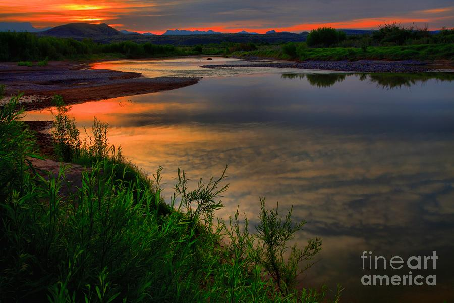 Santa Elena Photograph - Rio Grande Sunrise by Adam Jewell