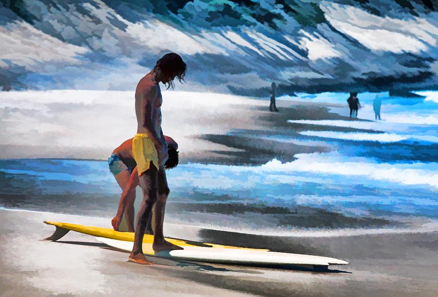 Brazil Photograph - Rio Surfers by Dennis Cox