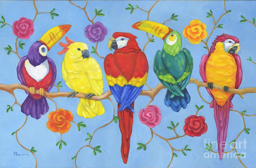 Rio Painting - Rio Tropical Birds by Paul Brent