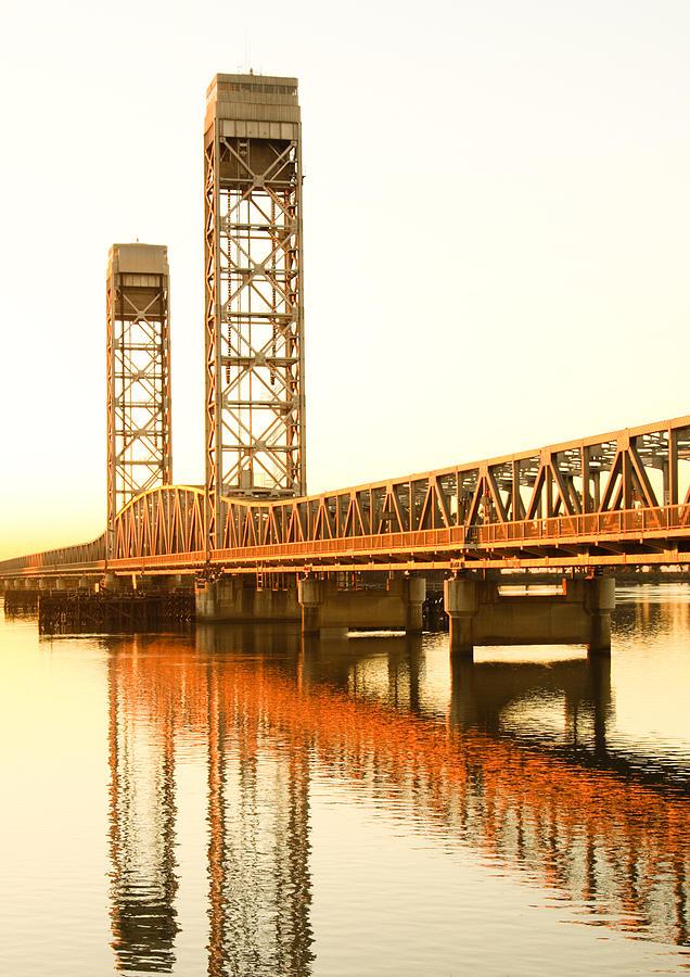 California Photograph - Rio Vista Bridge Sunrise by Troy Montemayor