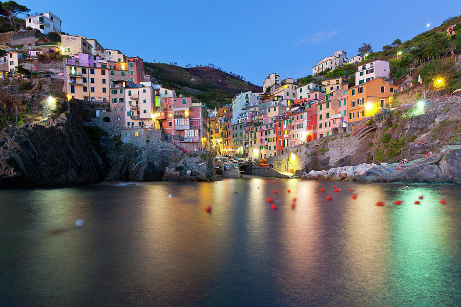 Horizontal Photograph - Riomaggiore After Sunset by Sebastian Wasek