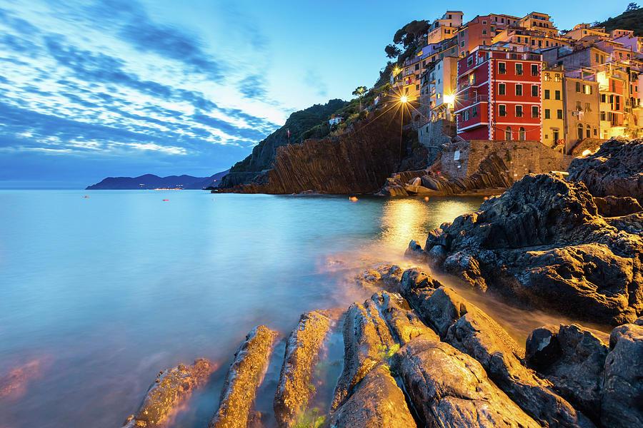 Cinque Terre Photograph - Riomaggiore by Evgeni Dinev