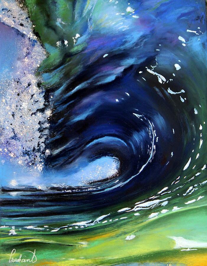 Rip Curl - Dynamic Ocean Wave  Pastel by Prashant Shah