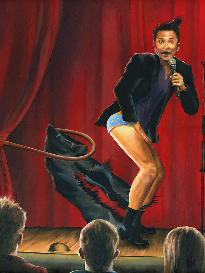 rip off starring alec mapa painting by paul richmond