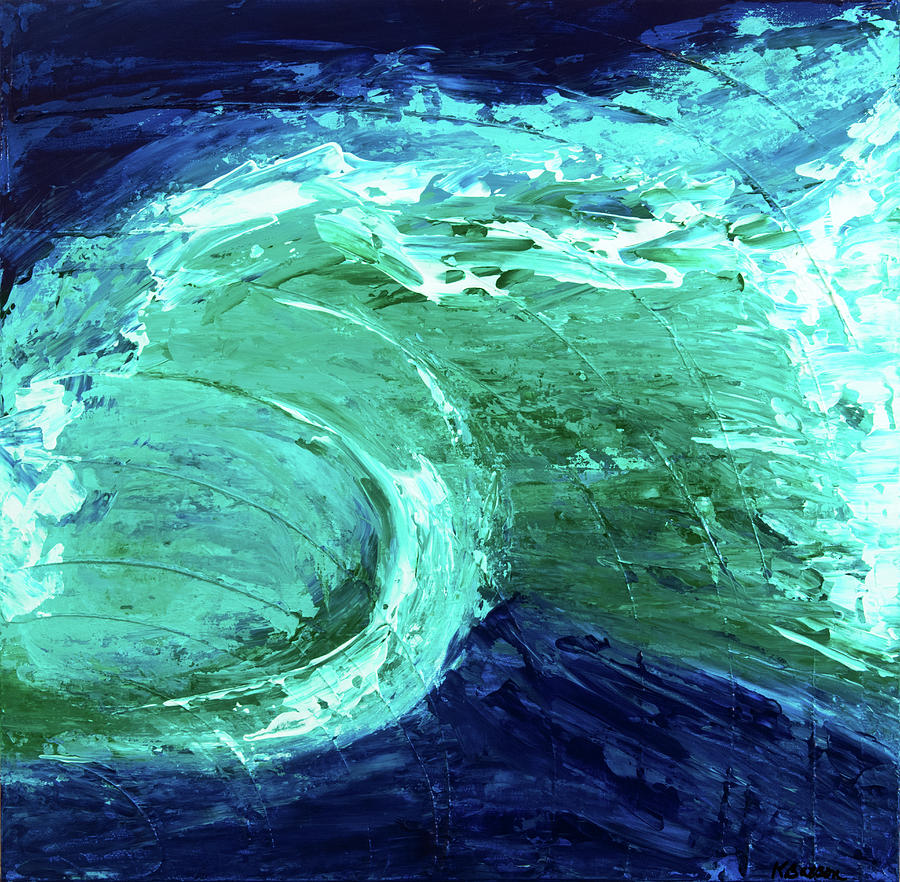 Ocean Painting - Rip Tide by K Batson Art