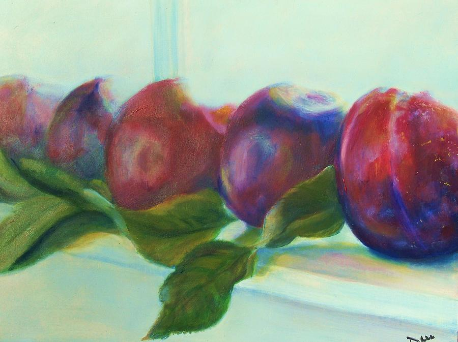 Plums Painting - Ripe For The Picking by Dana Redfern