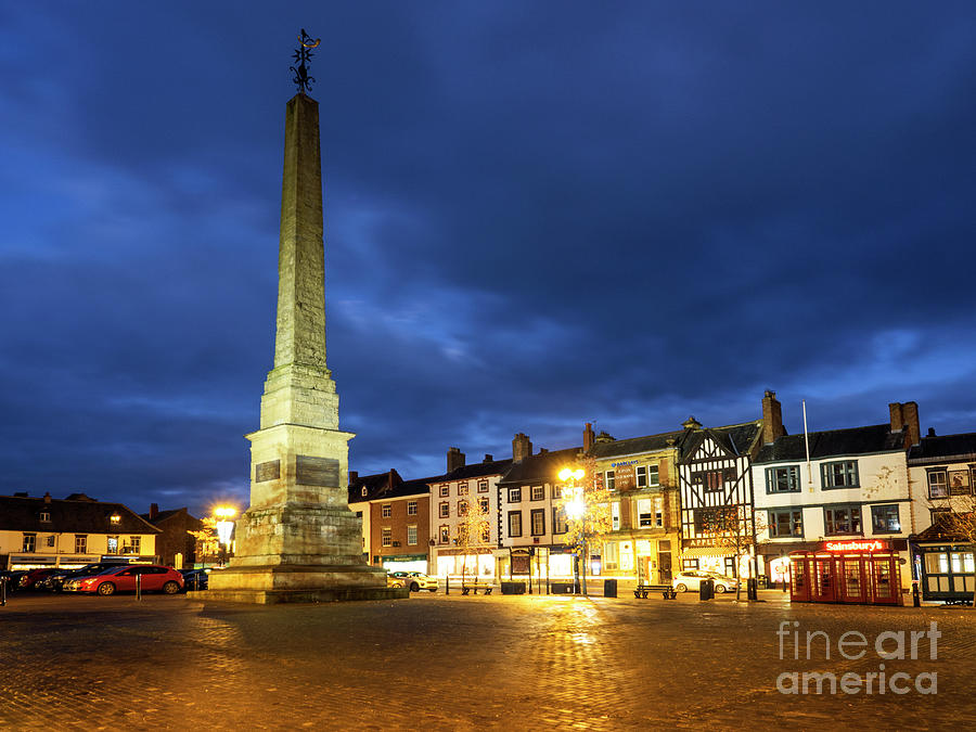 Britain Photograph - Ripon Market Place At Dusk by Mark Sunderland
