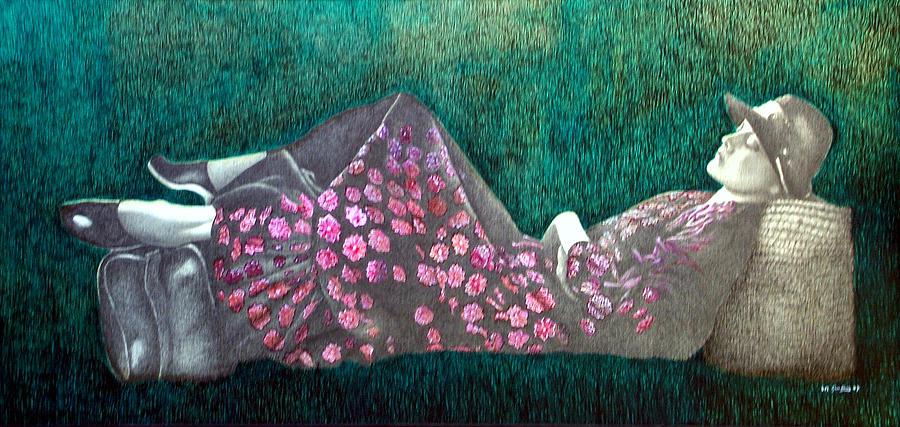 Riposo Sullerba Painting by Amedeo Del Giudice