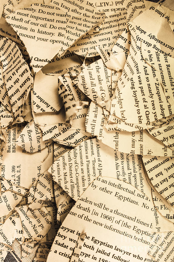Torn Paper Book Cover : Ripped up pages photograph by jorgo photography wall art