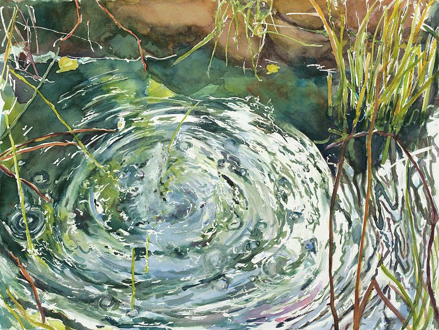 Water Painting - Ripple Pond by Madeleine Arnett