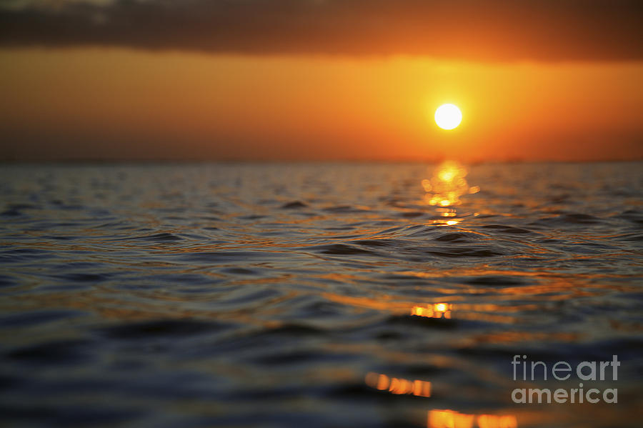Beach Photograph - Rippled Sunset by Brandon Tabiolo - Printscapes