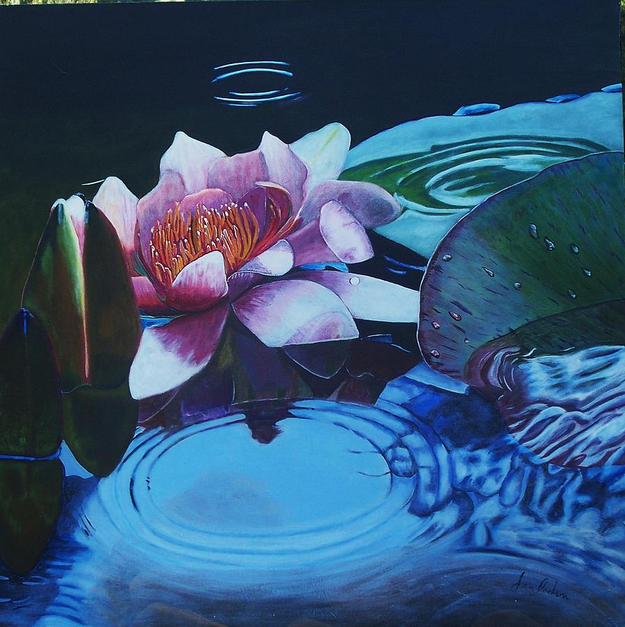 Pond Painting - Ripples by Joan Cookson