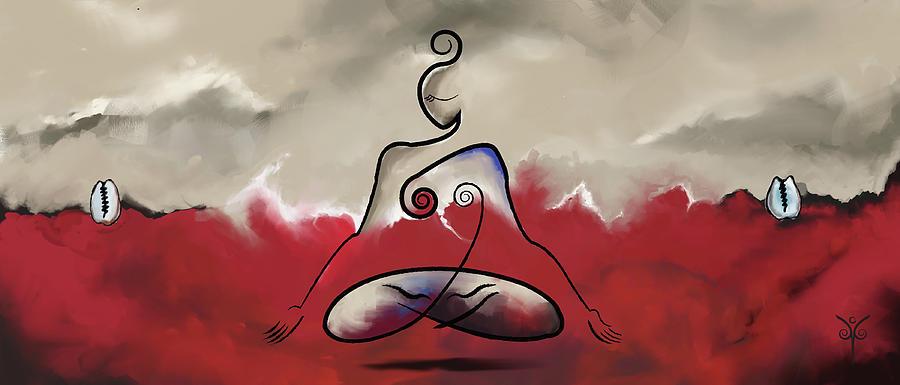 Mindfulness Digital Art - Rise Above by Jennifer Griffin