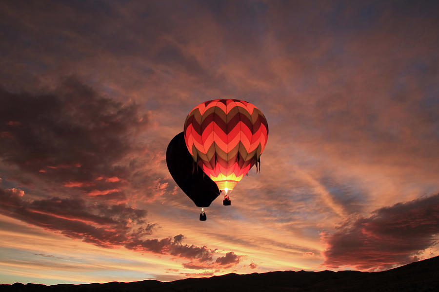 Hot Air Balloons Photograph - Rise And Shine by Donna Kennedy