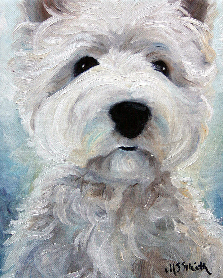 Westie Painting - Rise And Shine by Mary Sparrow