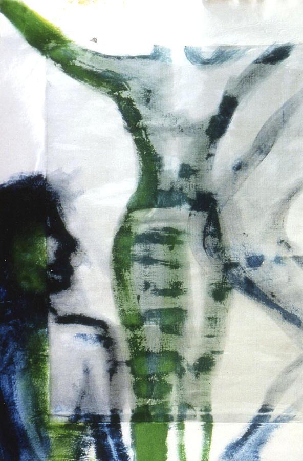 Figure Painting - Rise by Ingrid Torjesen