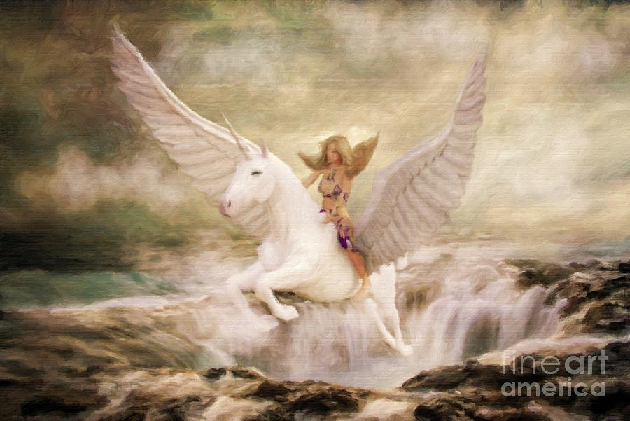 Fantasy Painting - Risen By Sarah Kirk by Esoterica Art Agency