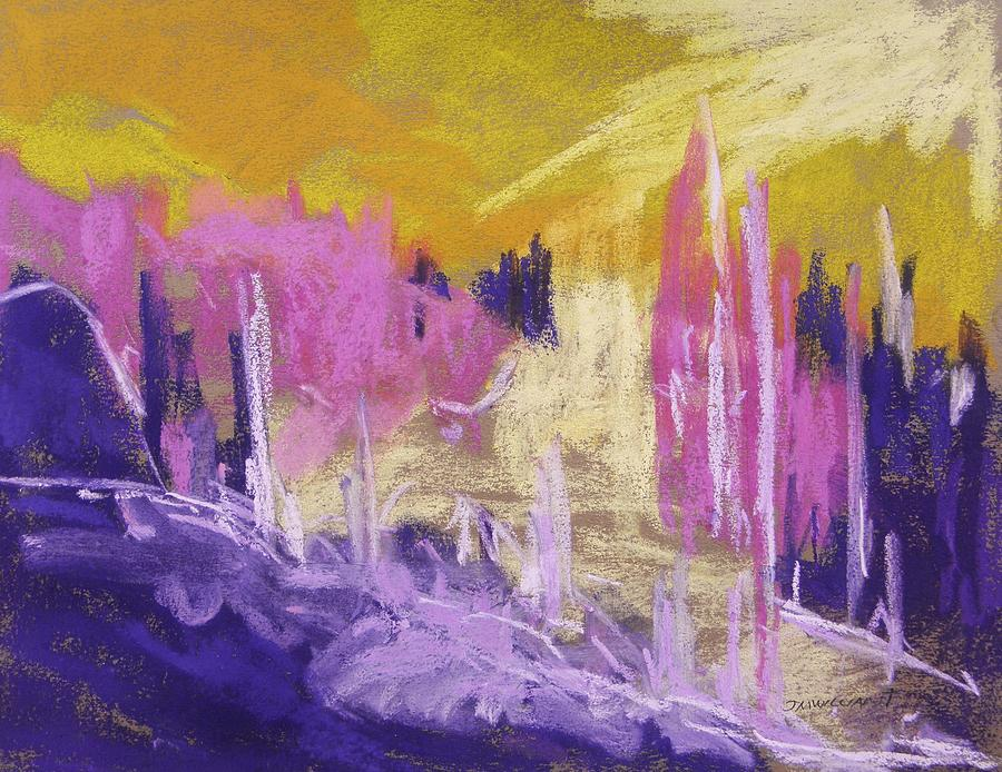 Abstract Painting - Rising Against Yellow by John Williams