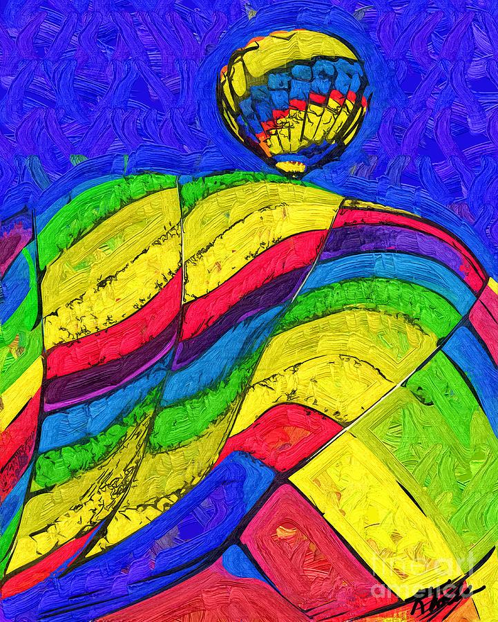Hot Air Balloons Digital Art - Rising Behind by Kirt Tisdale