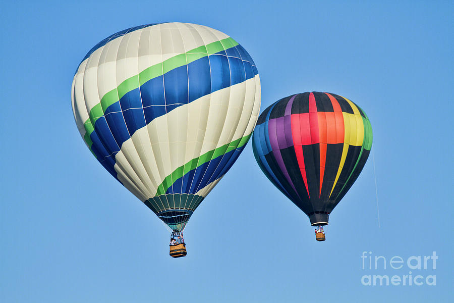 Hot Air Balloon Photograph - Rising High by Arthur Bohlmann