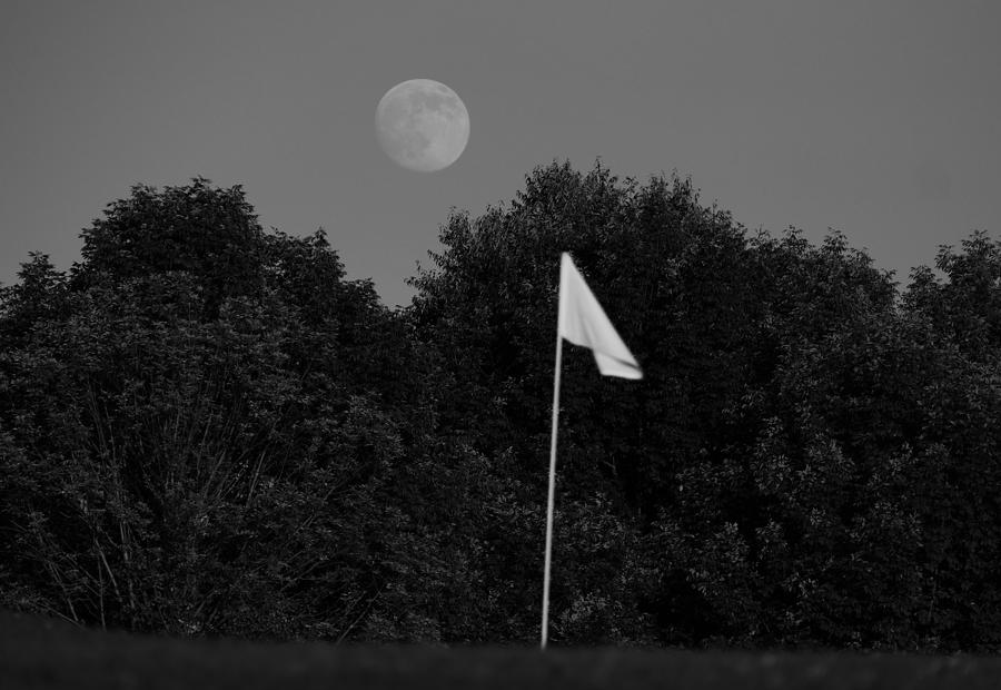 Moon Photograph - Rising Moon Black And White by Debbie Storie