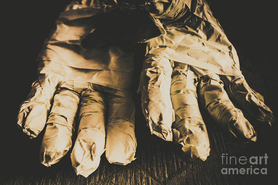 Nightmare Photograph - Rising Mummy Hands In Bandage by Jorgo Photography - Wall Art Gallery