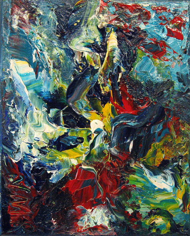 Abstract Painting - Rising by Nathalie Morin Rousseau