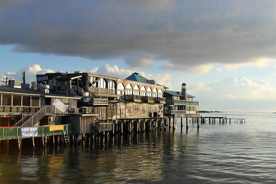 Cedar Key Photograph - Rising Storm Dock Street by Sheri McLeroy
