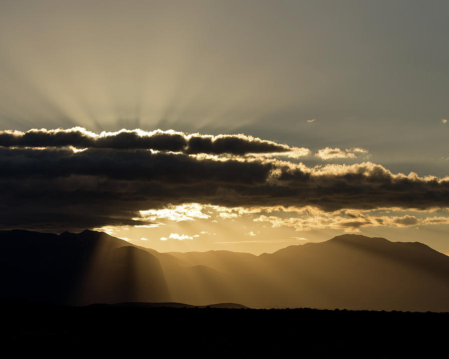 Autumn Photograph - Rising Sun, Taos County, Nm by Troy Montemayor