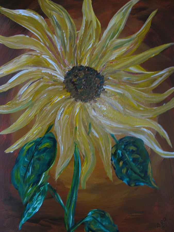 Sunflower Painting - Rising Sunflower by Dennis Poyant
