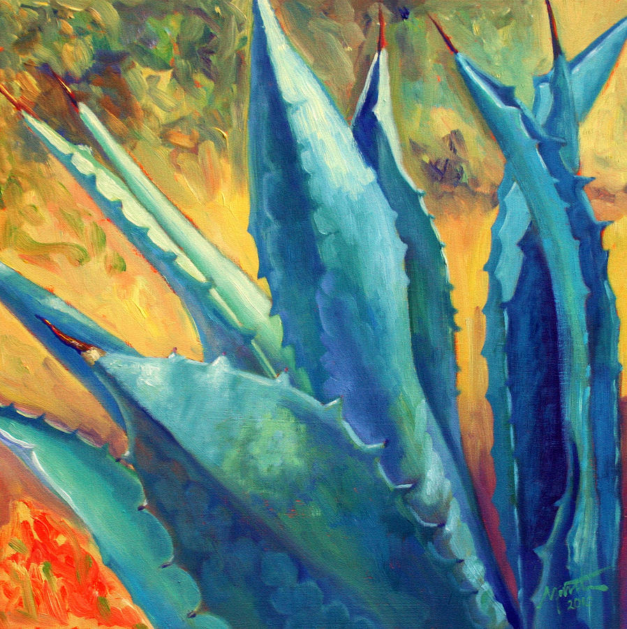 Agave Painting - Rising Up by Athena Mantle