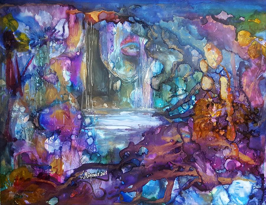 Abstract Painting - Rising Waters by Lucy Giboyeaux