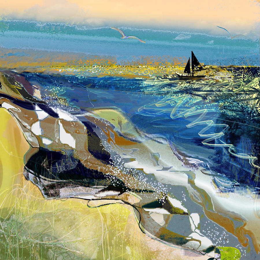 Sea Painting - Rising Wind by Anne Weirich