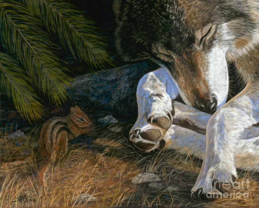 Wolf Painting - Risky Business by Sheri Gordon