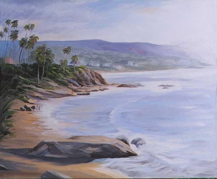 Risner Beach Painting by Jay Johnson