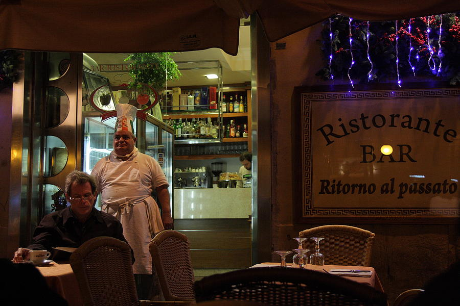 Rome Photograph - Ristorante by Art Ferrier