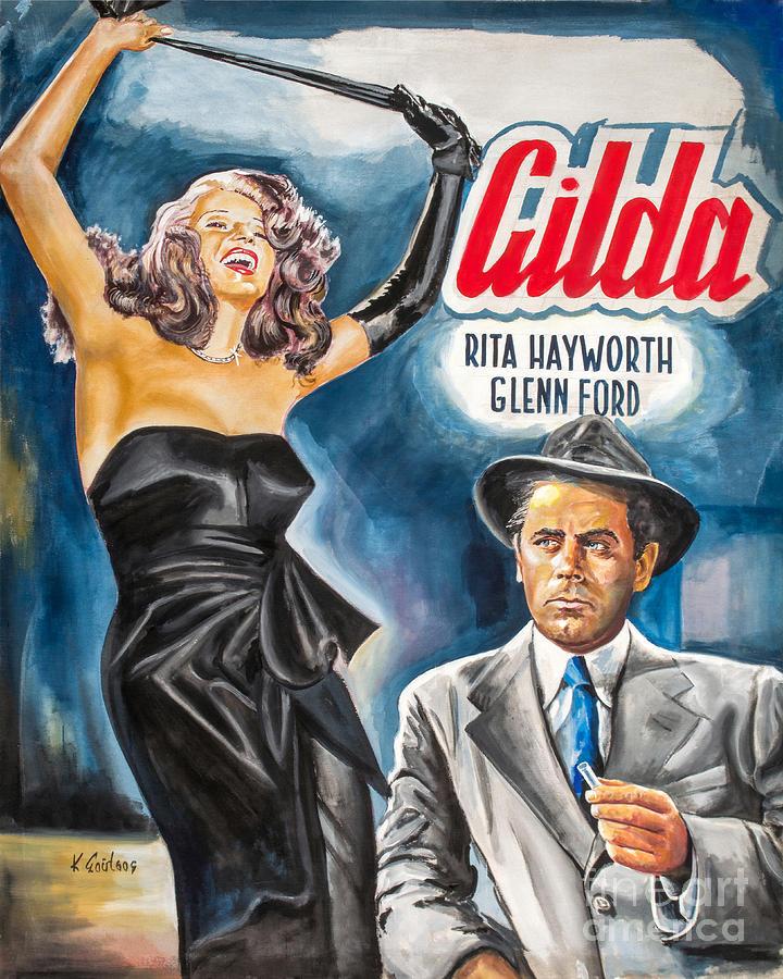 Rita Hayworth Gilda 1946 by Star Portraits Art