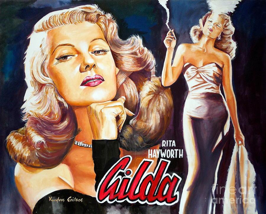 Rita Hayworth - Gilda by Star Portraits Art