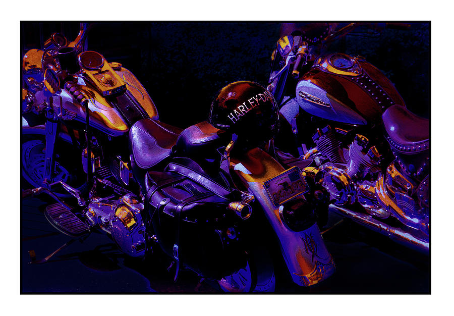 Harley Photograph - Rivalry by Mal Bray
