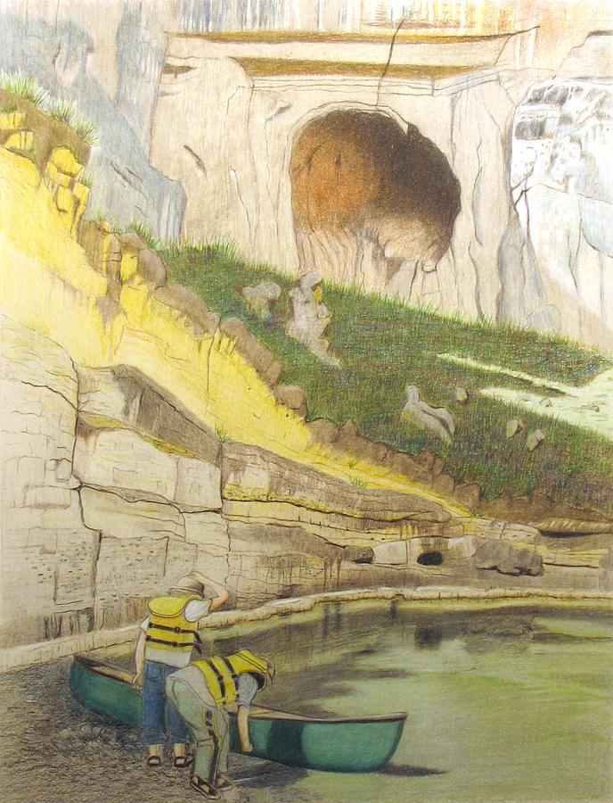River Painting - River Adventure by Myrna Salaun