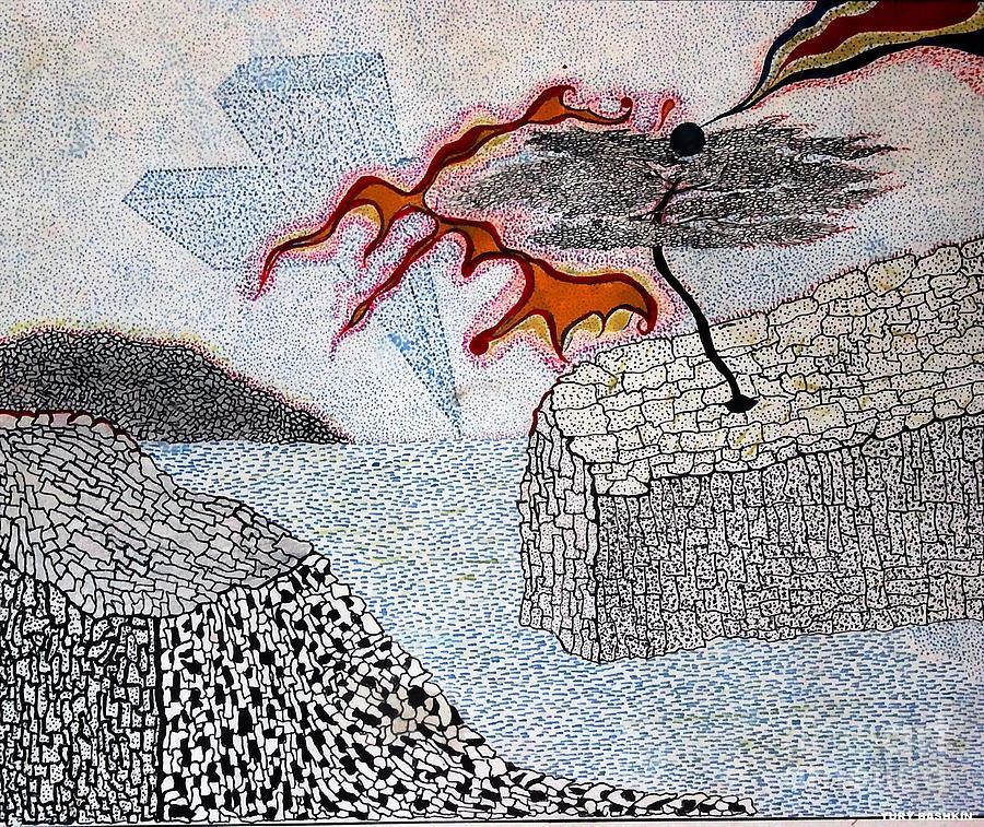 Sureal Drawing - River And Water by Yury Bashkin
